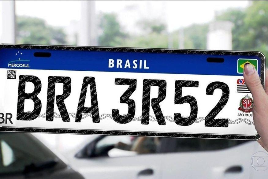 Placas padrão Mercosul começam a ser usadas na Paraíba a partir de hoje (11)
