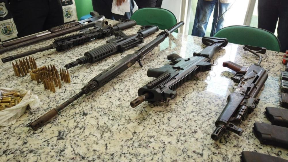 Polícias Civis do RN, MA, PI apreendem fuzis de organização criminosa responsável por roubos a carros-fortes no Nordeste