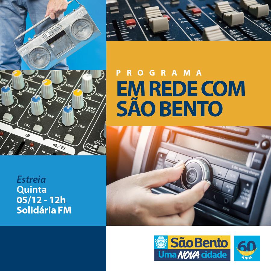 """Programa """"Em Rede com São Bento"""" estreia nesta quinta (5)"""